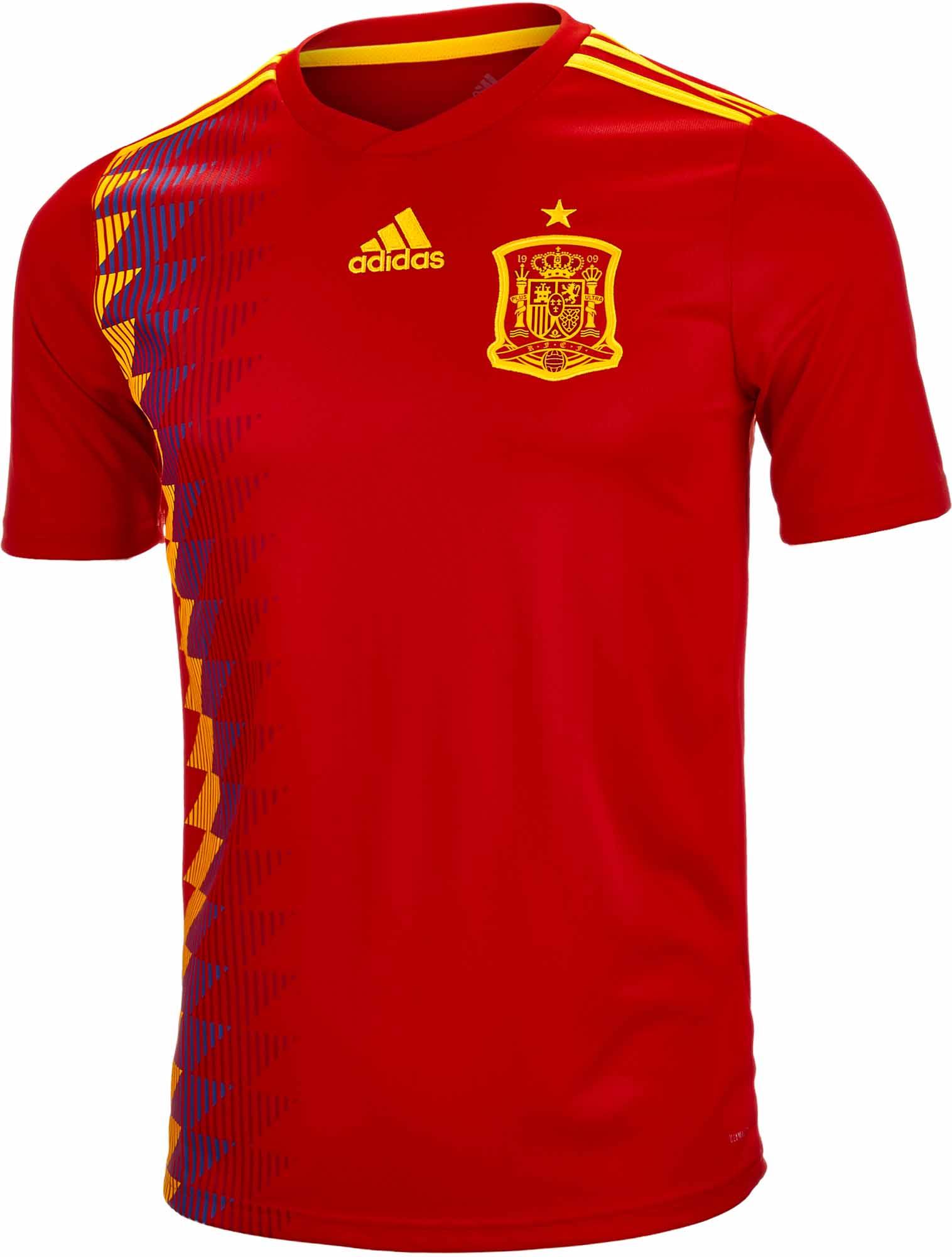 adidas Spain Home Jersey 2018-19 NS 9f20b4f61