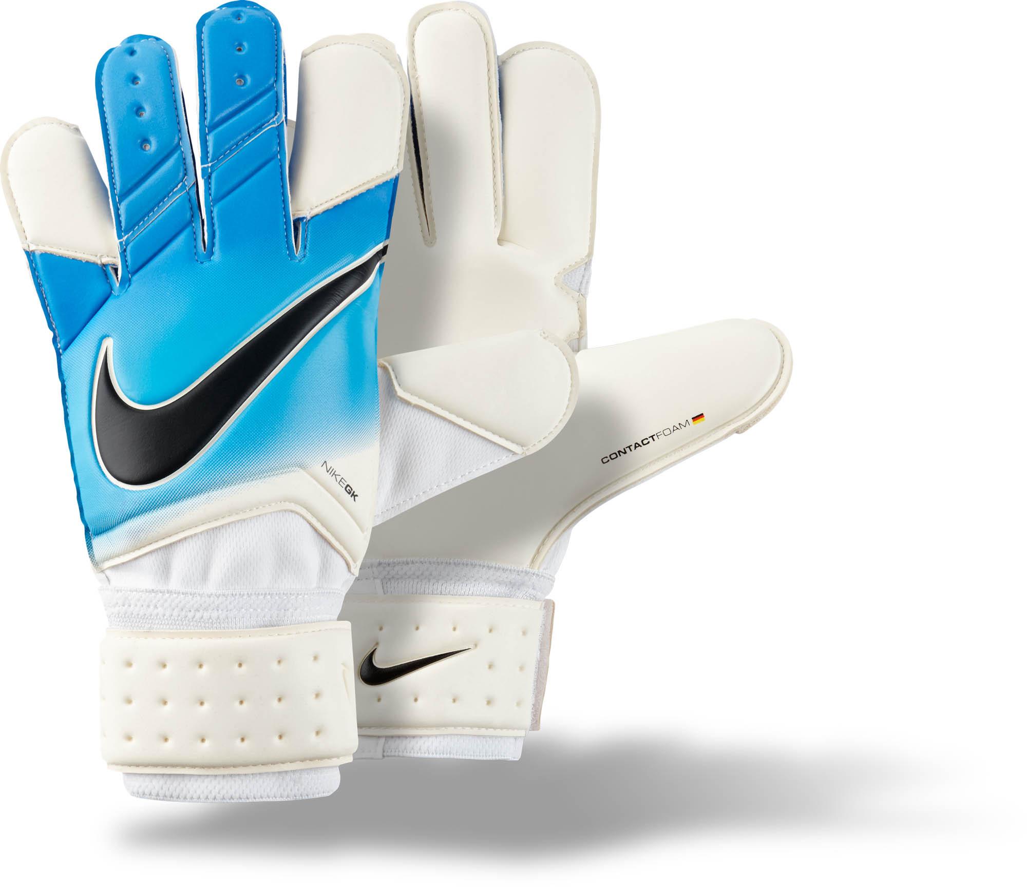 Nike Keeper Gloves: Nike Vapor Grip 3 Goalkeeper Glove- White Goalie Gloves