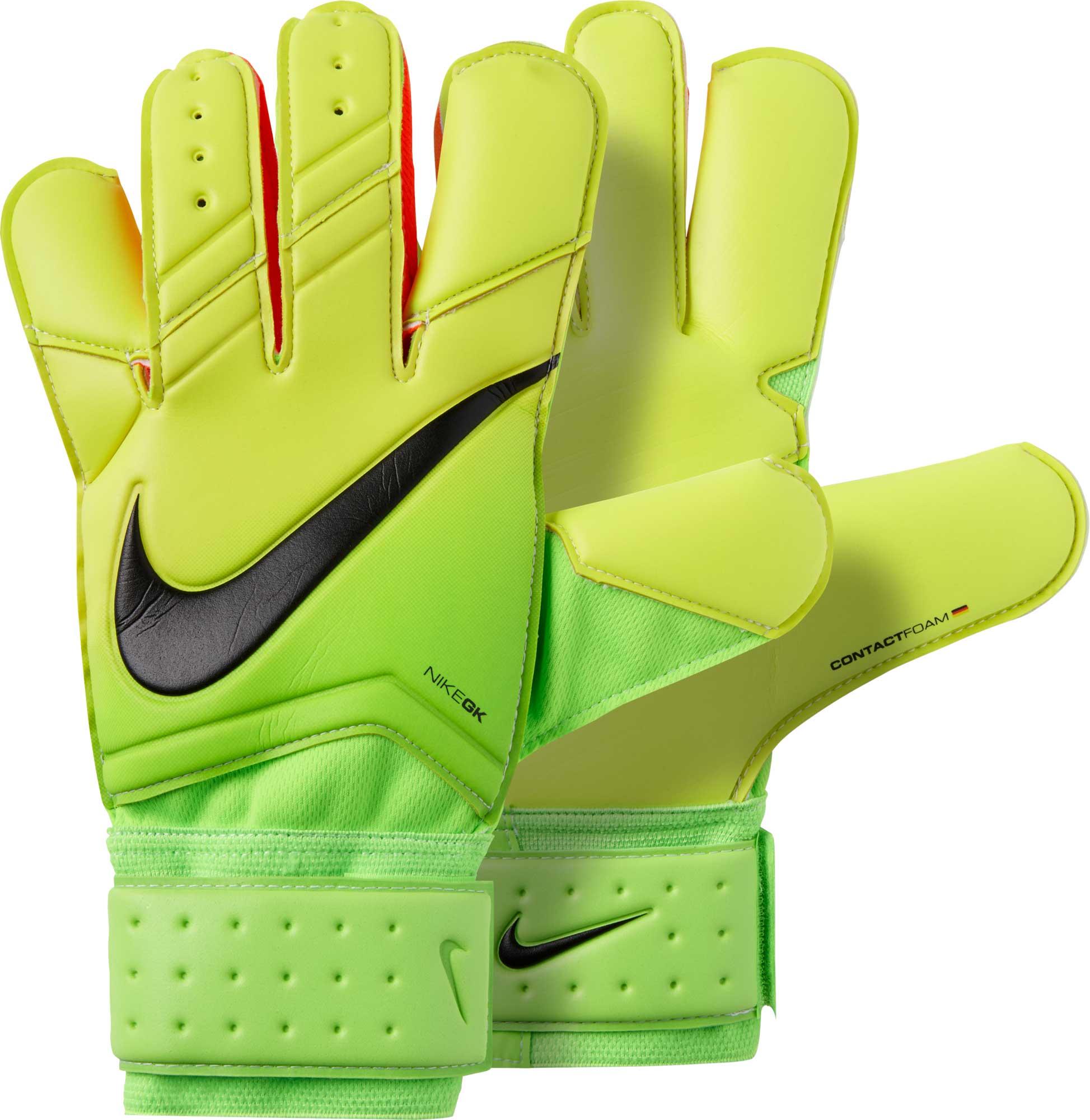 Nike Vapor Grip 3 Goalkeeper Gloves – Electric Green Volt 86bde580ec