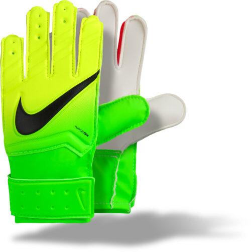 Nike Kids Match Goalkeeper Gloves – Electric Green/Volt