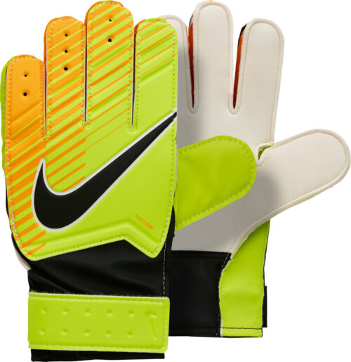 Nike Kids Match Goalkeeper Gloves – Volt/Laser Orange