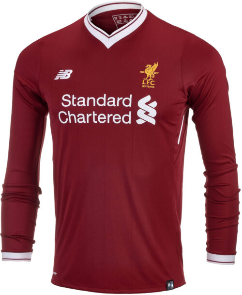 New Balance Kids Liverpool L/S Home Jersey 2017-18 NS