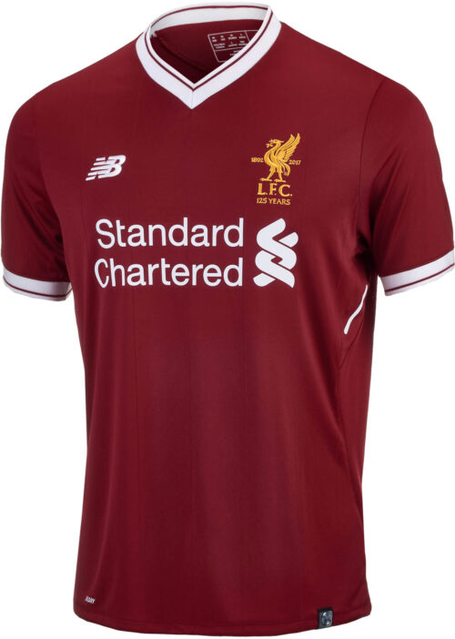 New Balance Kids Liverpool Home Jersey 2017-18 NS