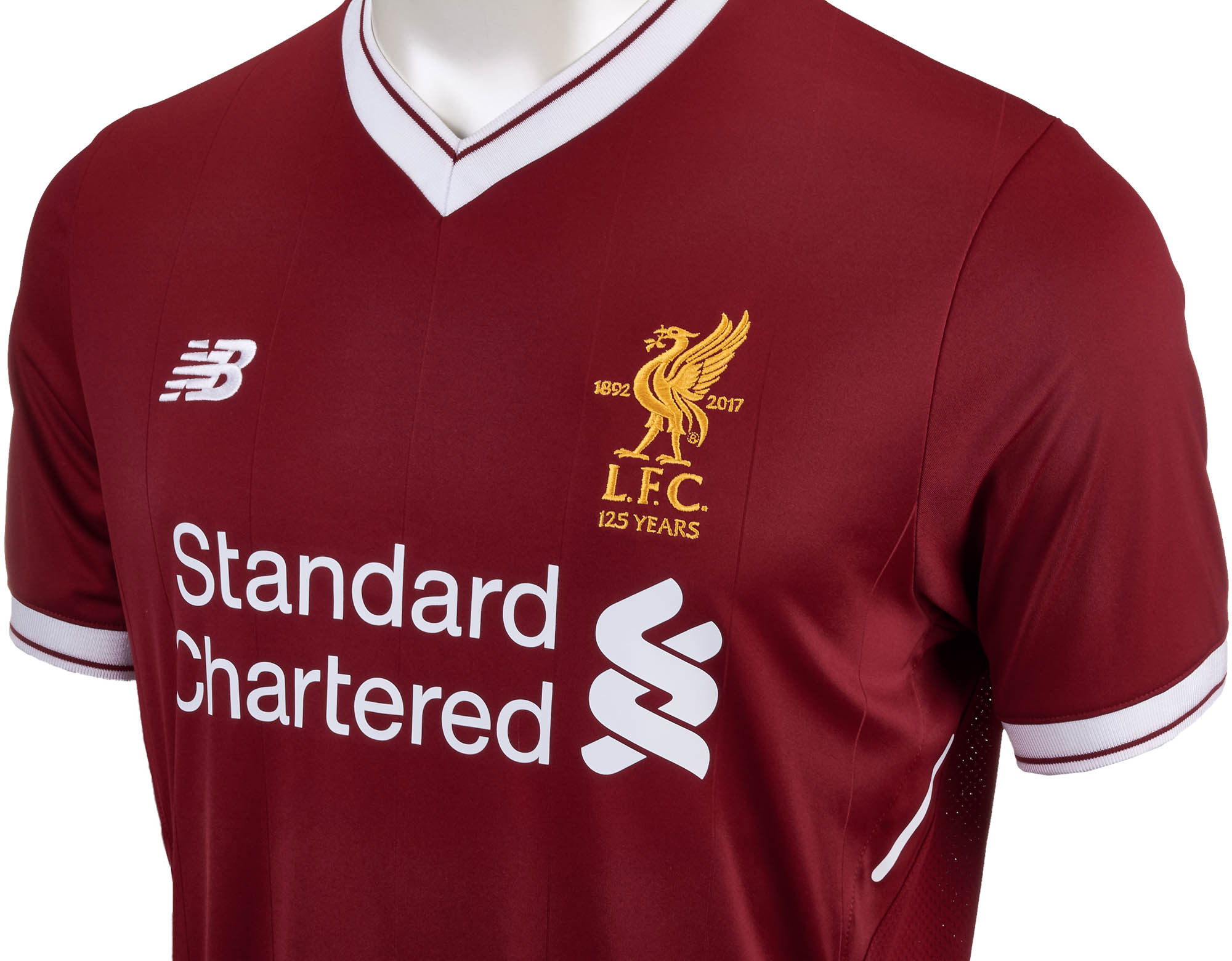 newest 6168b 0a228 New Balance Liverpool Home Jersey- 2017/18 Liverpool Jerseys