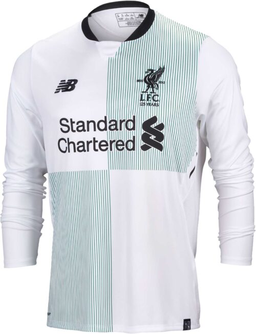 New Balance Liverpool L/S Away Jersey 2017-18 NS