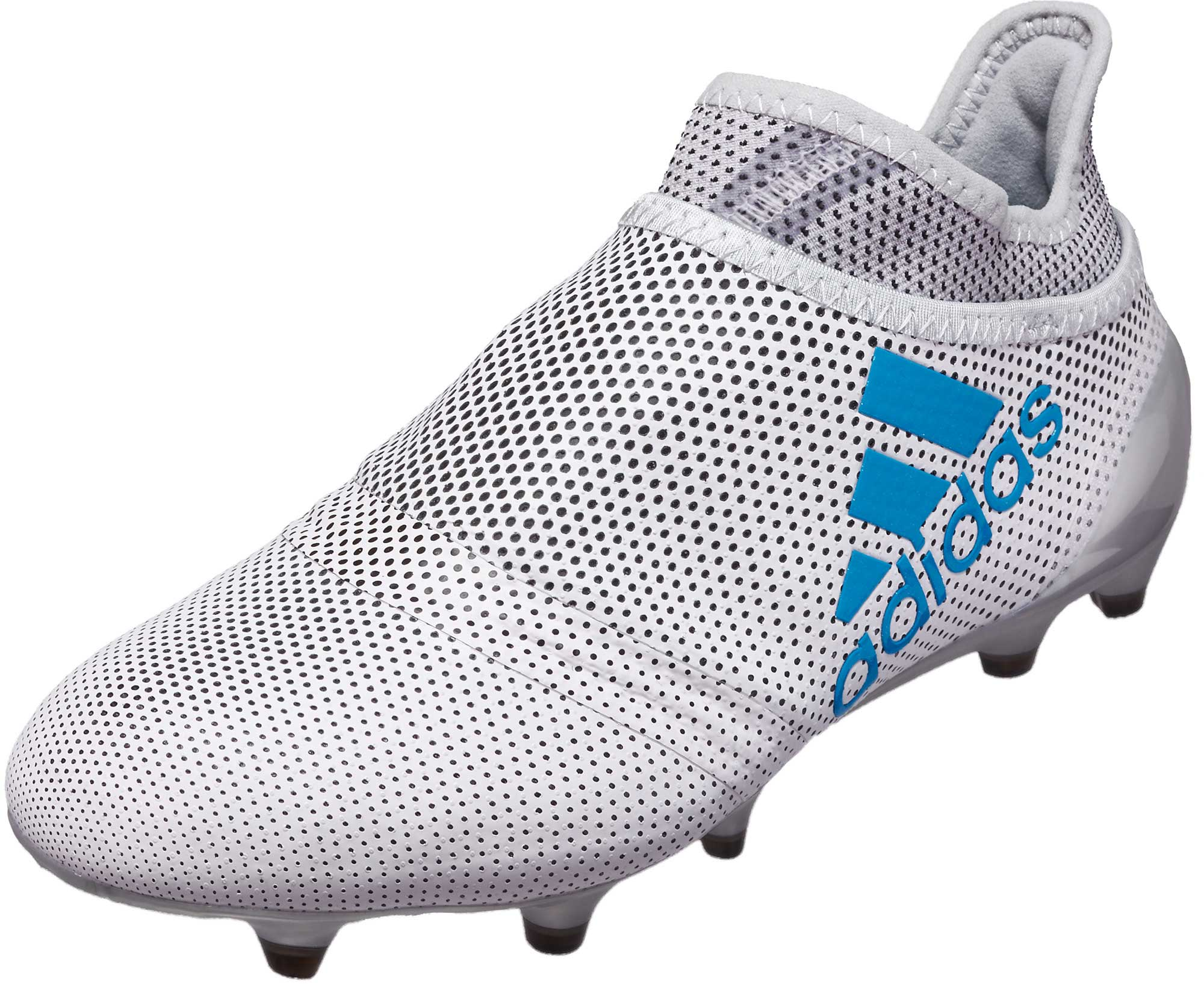 adidas Kids X 17 PureSpeed FG – White/Energy Blue