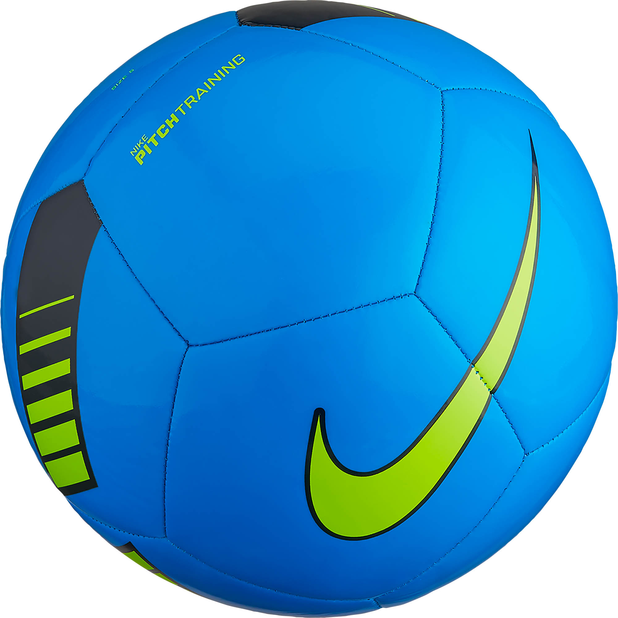 nike pitch training soccer ball photo blue and dark