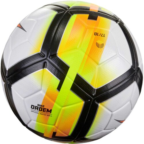 Nike Ordem V Match Ball – White/Laser Orange