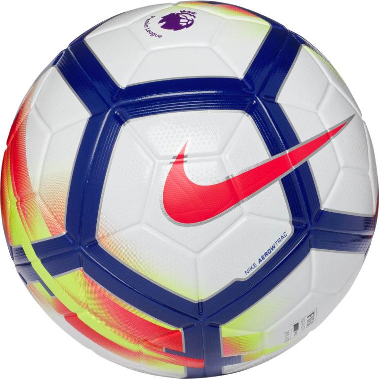 Nike Ordem V Match Soccer Ball – Premier League – White/Crimson