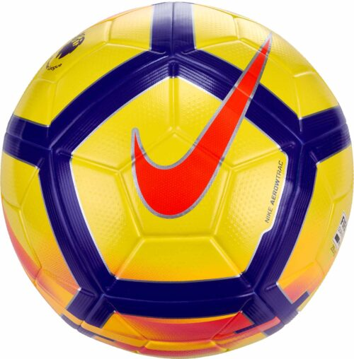 Nike Ordem V Hi-vis Match Ball – Premier League – Yellow/Crimson