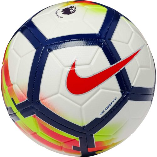 Nike Strike Soccer Ball – Premier League – White/Crimson