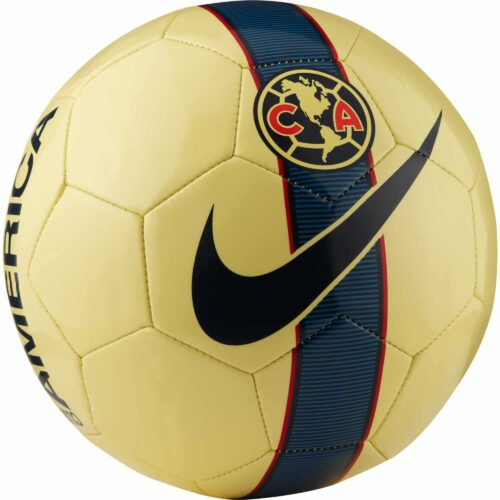 Nike Club America Supporters Soccer Ball – Lemon Chiffon/Armory Navy