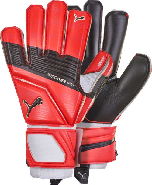 PUMA evoPOWER Super 3 Goalkeeper Gloves – Red Blast/Black