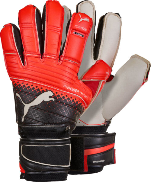 PUMA evoPOWER Protect 1.3 Goalkeeper Gloves – Red Blast/Black
