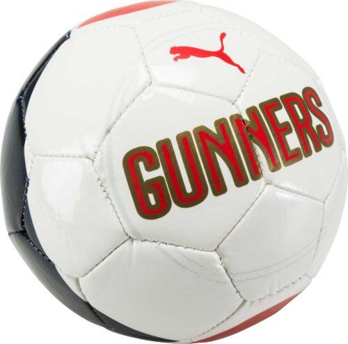 PUMA Arsenal Mini Soccer Ball – White/Estate Blue