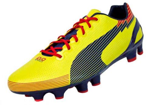 PUMA evoSPEED 1 Graphic FG Soccer Cleats  Blazing Yellow/Blue