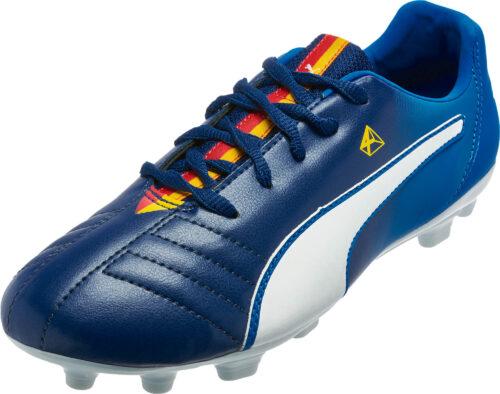 PUMA Kids Cesc 4 AG Soccer Cleats – Blue/White