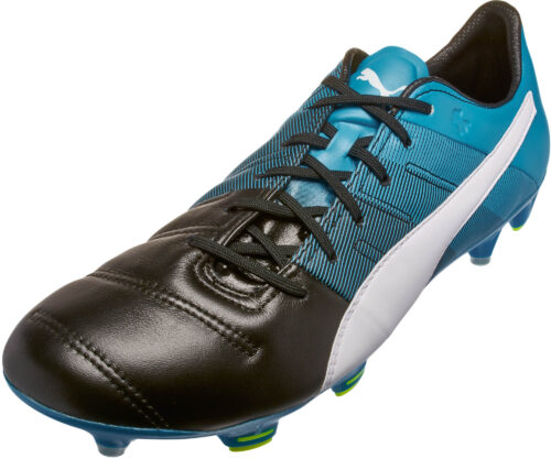 PUMA evoPOWER 1.3 FG – Leather – Black/Atomic Blue
