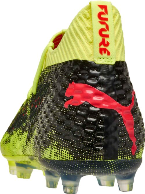 PUMA Future 18.1 Netfit FG – Fizzy Yellow/Red Blast