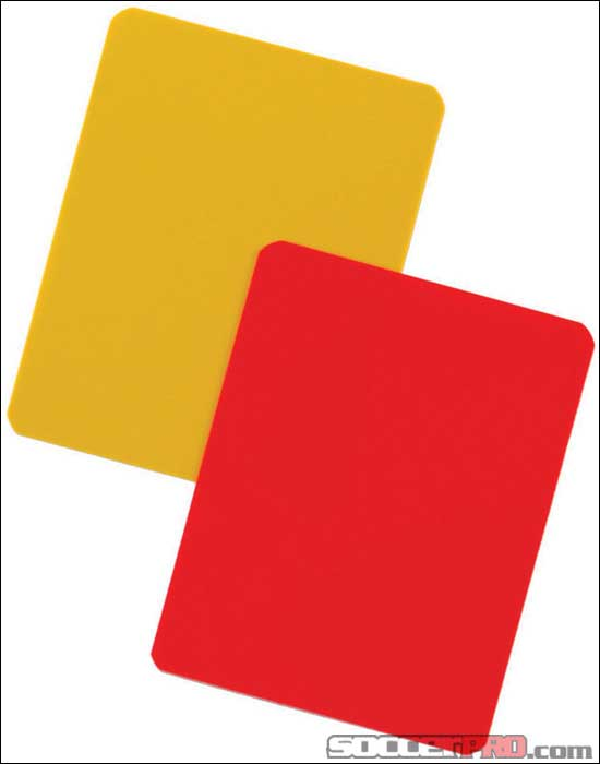 KwikGoal Referee Red/Yellow Cards