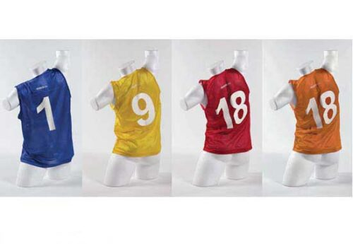 KwikGoal Numbered Tryout Vests – Set of 18