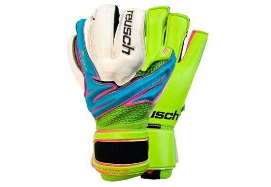 Reusch Argos Deluxe M1 Goalkeeper Gloves  Bluebird/Lime