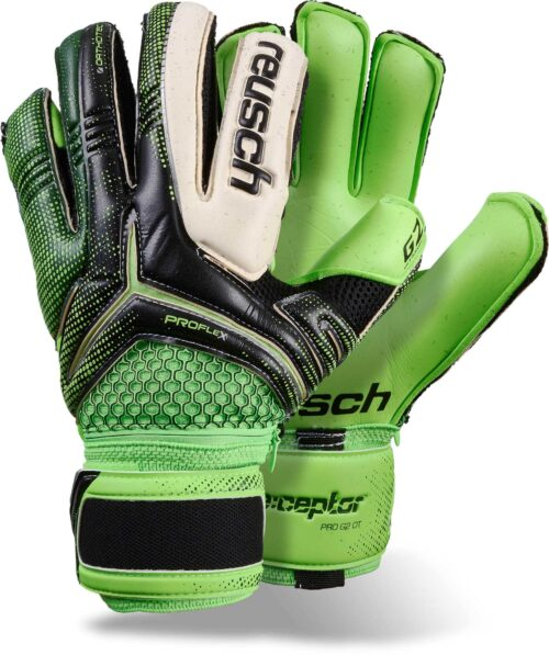 Reusch RE:CEPTOR PRO G2 Ortho-Tec Goalkeeper Gloves – Black/Green