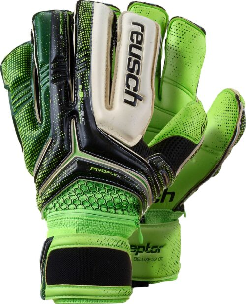 Reusch RE:CEPTOR Deluxe G2 Ortho-Tec Goalkeeper Gloves – Black/Green