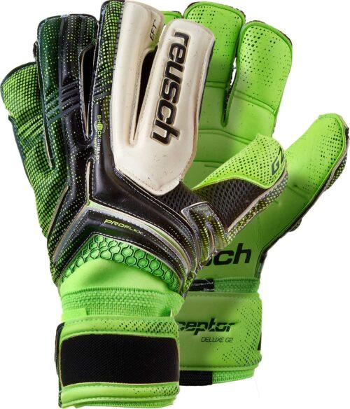 Reusch RE:CEPTOR Deluxe G2 Goalkeeper Gloves – Black/Green