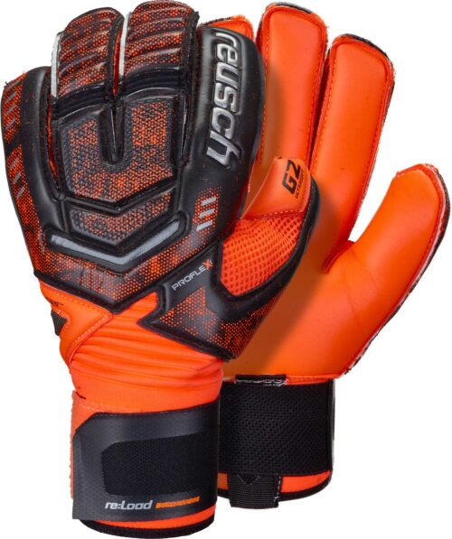Reusch RE:LOAD Supreme G2 Goalkeeper Gloves – Black/Shocking Orange