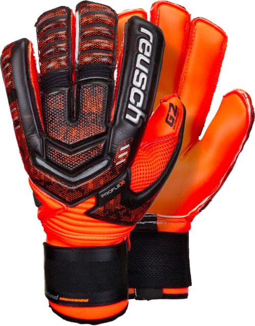Reusch RE:LOAD Supreme G2 Ortho-tec Goalkeeper Gloves – Black/Shocking Orange