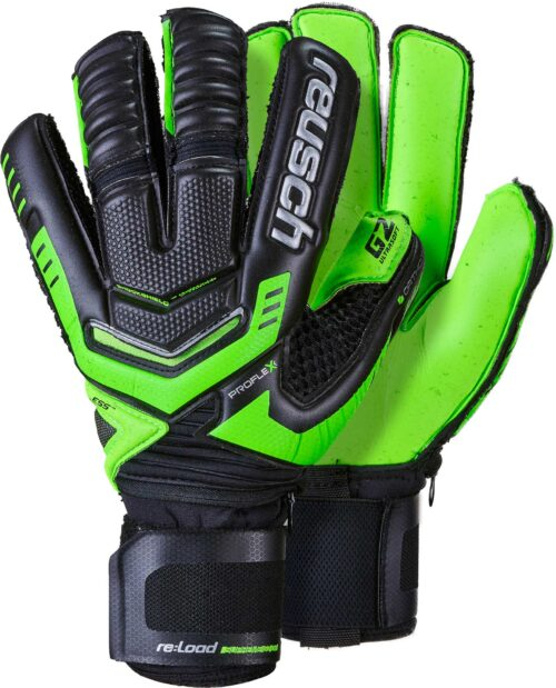 Reusch RE:LOAD Supreme G2 Ortho-Tec Goalkeeper Gloves – Black/Green