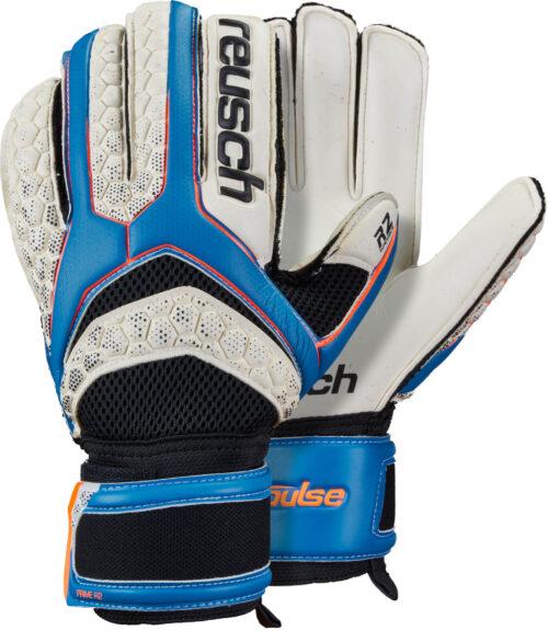 Reusch Pulse Prime R2 Goalkeeper Gloves – White/Electric Blue
