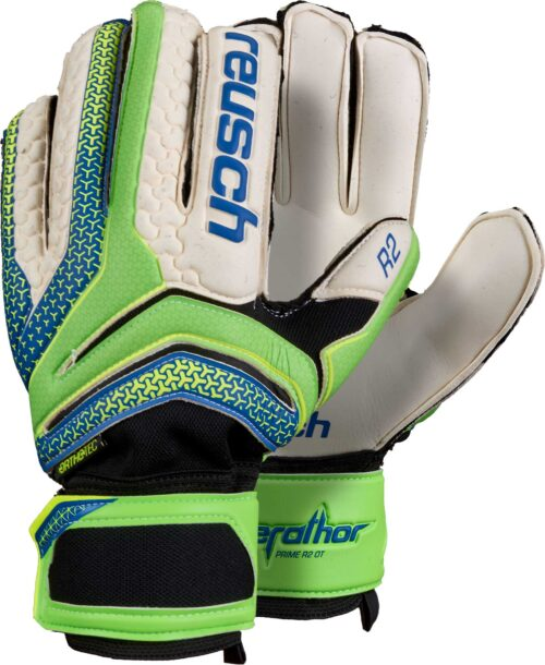 Reusch Serathor Prime R2 Ortho-Tec Goalkeeper Gloves – Green Gecko/Dazzling Blue