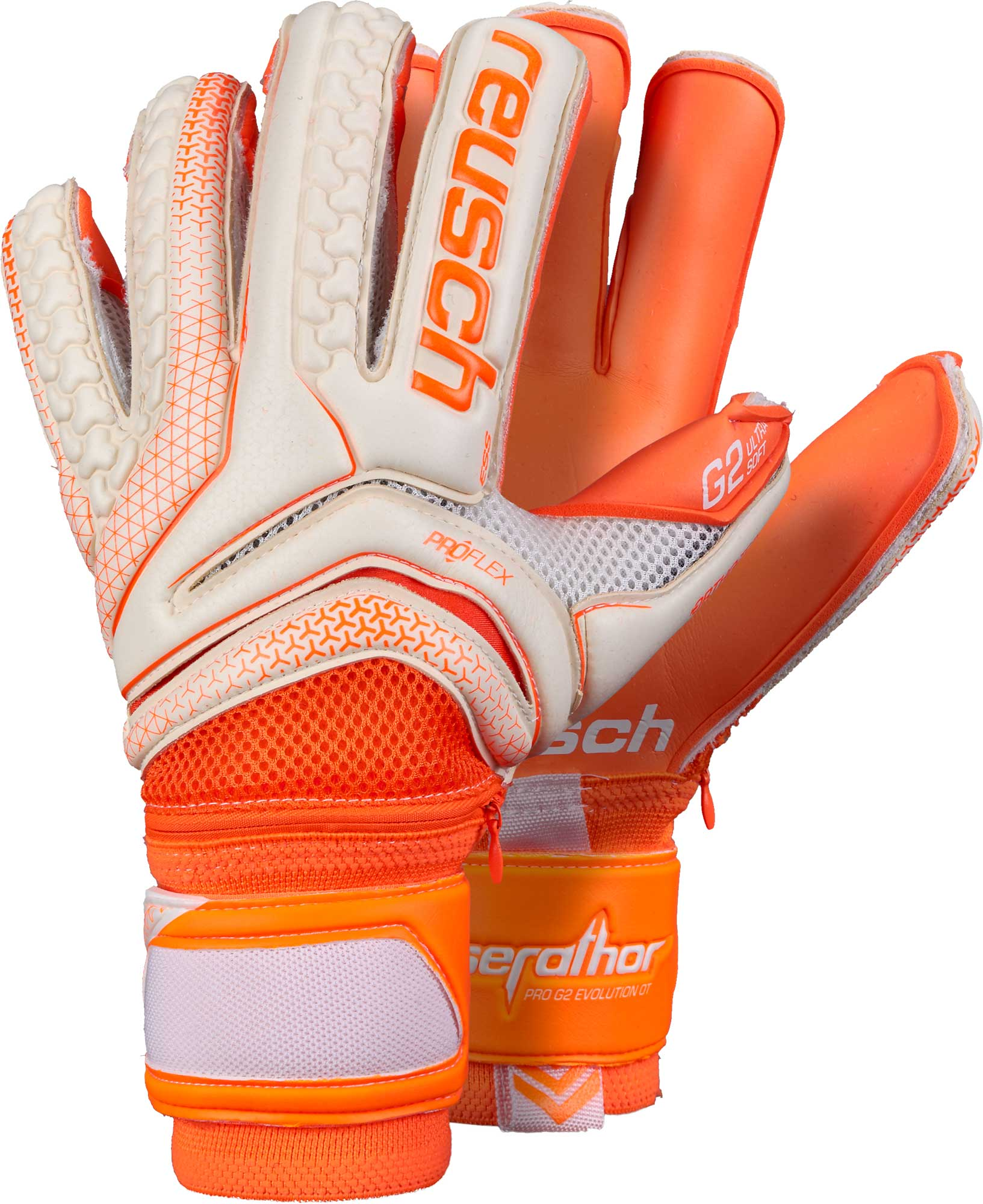 Reusch Serathor Pro G2 Evolution Ortho-Tec Goalkeeper Gloves –  White Shocking Orange 2a7dd4629