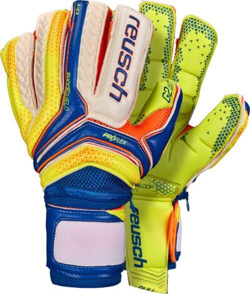 Reusch Serathor Supreme G2 Ortho-Tec Goalkeeper Gloves – Dazzling Blue/Safety Yellow