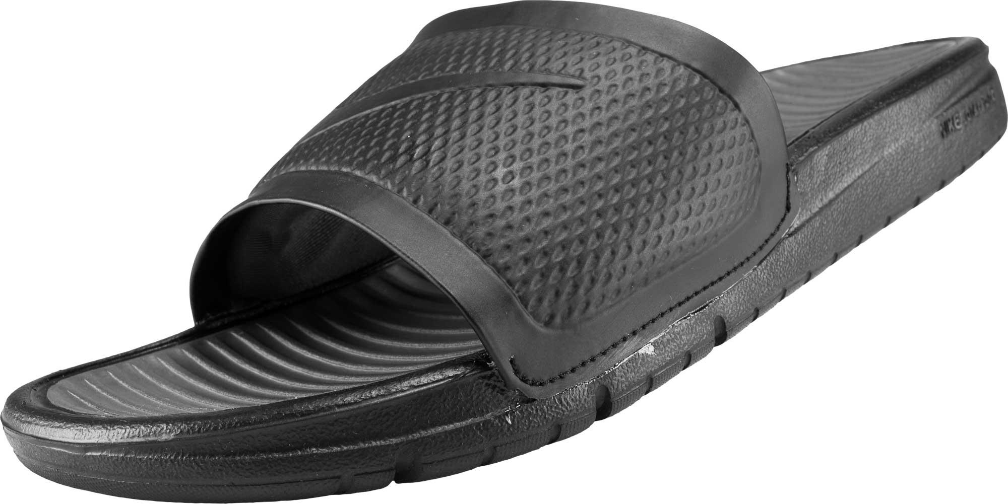 Black Nike Benassi Soccer Sandals Nike Soccer Slides
