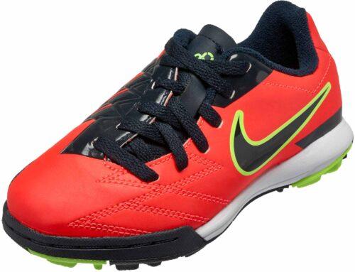 Nike Youth T90 Shoot IV TF  Bright Crimson/Dark Obsidian