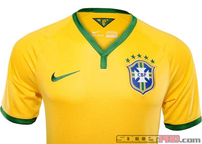 1d2fc9da9 Nike Brazil Home Jersey - 2013 14 Brasil Soccer Jerseys