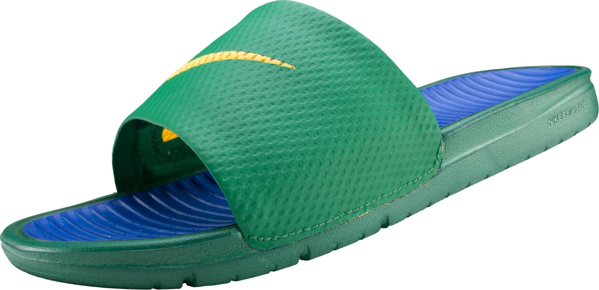 Nike Benassi Solarsoft Slides - Green Nike Soccer Sandals 6d44cd8f0