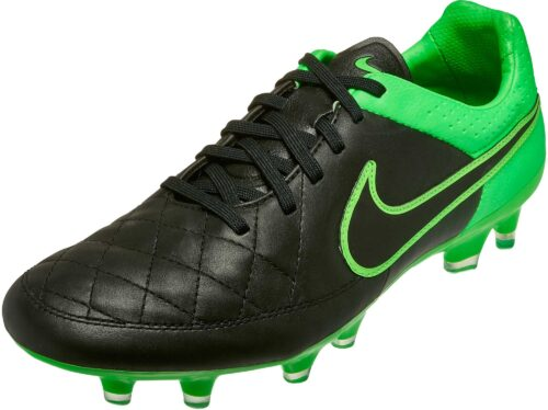 Nike Tiempo Legend V FG Soccer Cleats – Black/Green