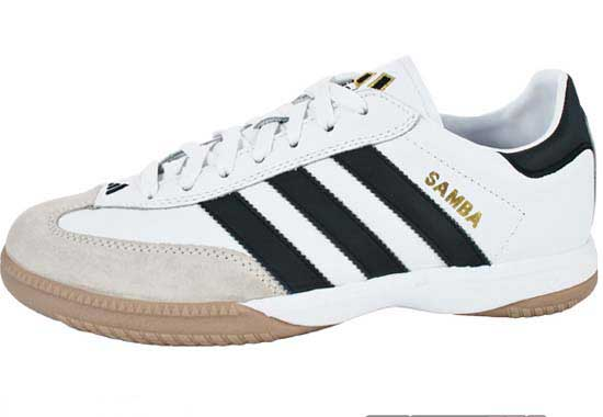 adidas Samba Millennium Indoor Soccer Shoes Black White