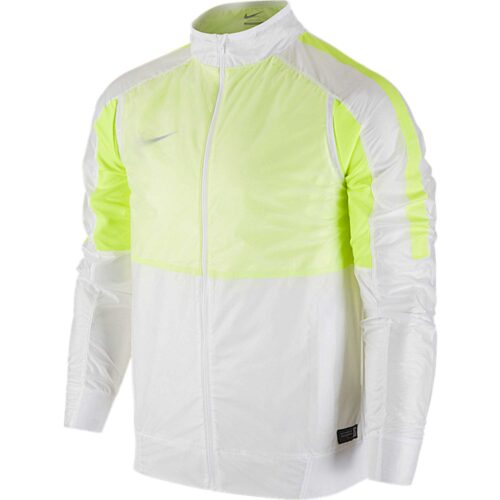 Nike Select Revolution Lightweight Woven Jacket – White/Volt
