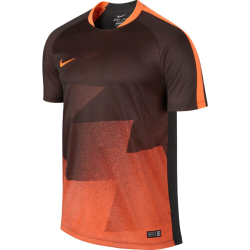 Nike GPX Training Top – Anthracite/Orange