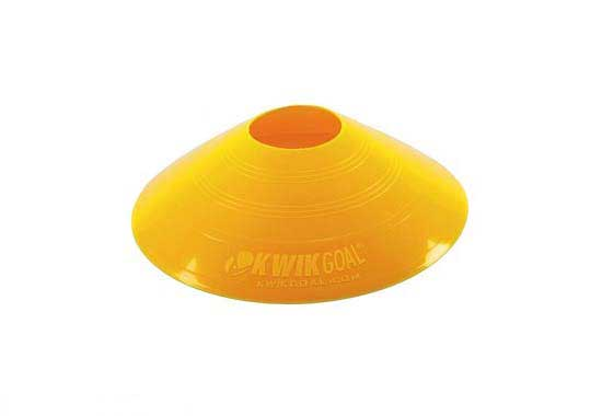 KwikGoal Small Disc Cone  Yellow