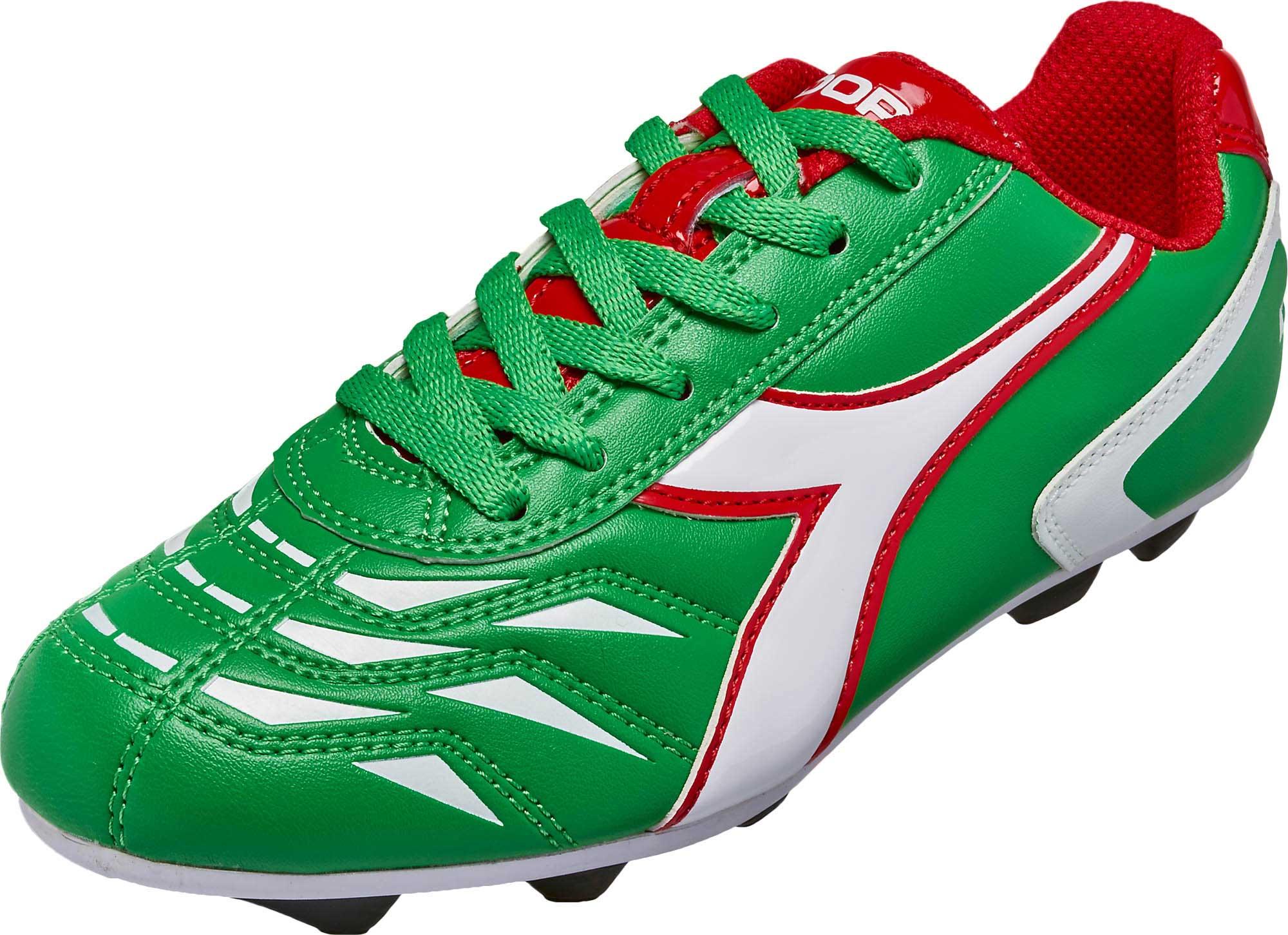 85e552c18c09 Diadora Kids Capitano MD FG Soccer Cleats – Green/White