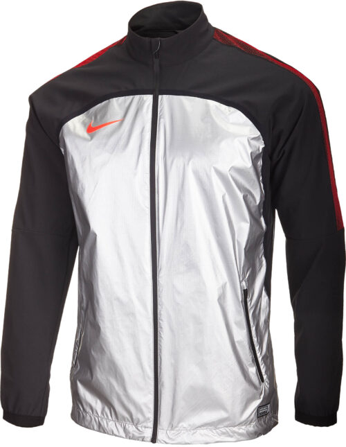 Nike Revolution Woven Elite Jacket II – Metallic Silver/Black