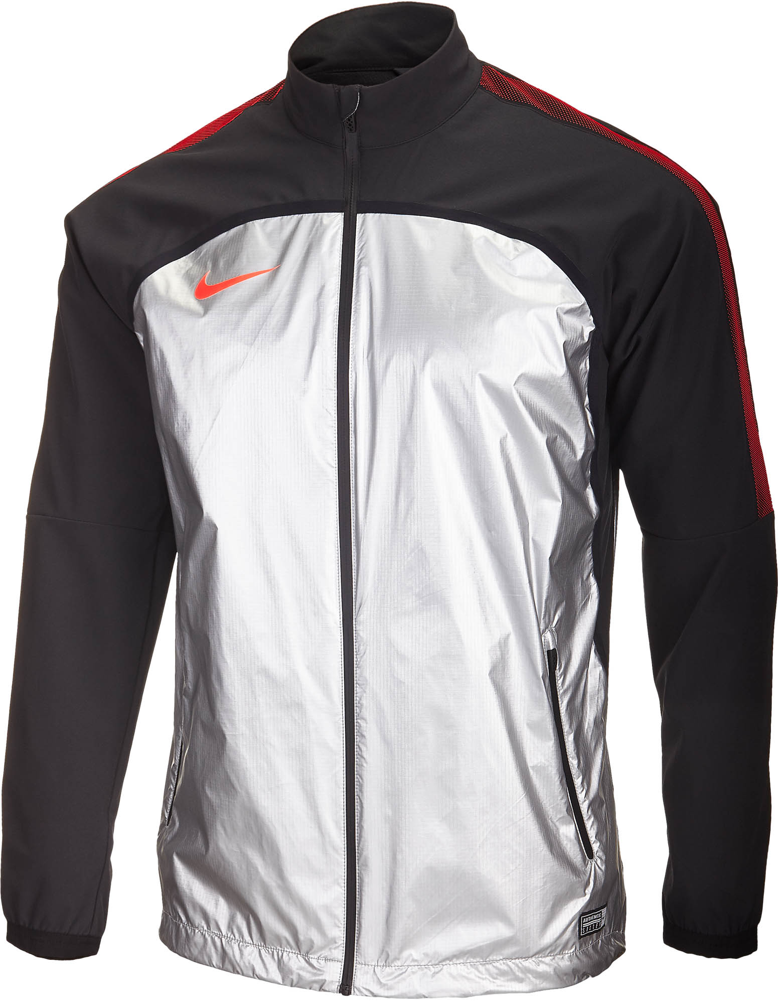 Nike Revolution Woven Elite Jacket II – Metallic SilverBlack