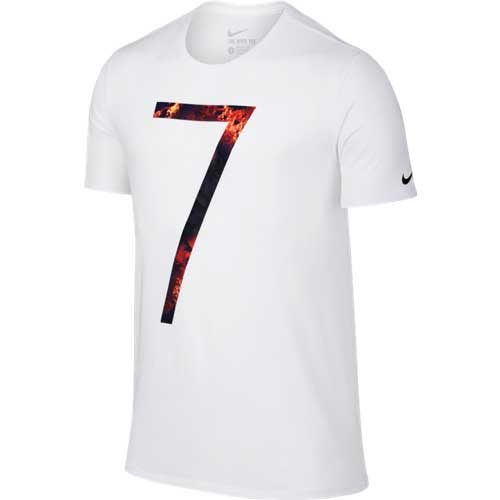 Nike CR7 Logo Tee – White