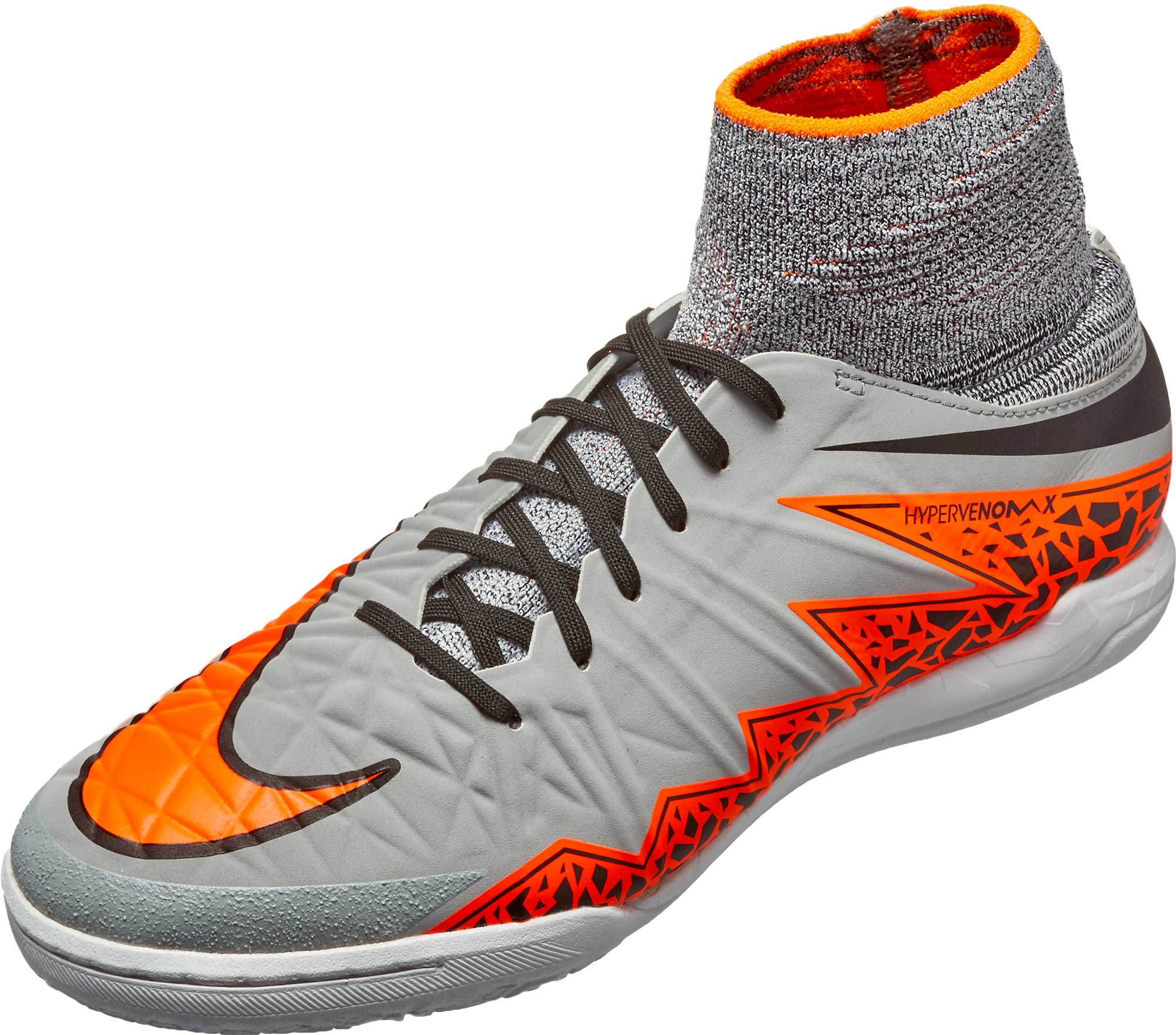 half off e734e a5cc7 Nike Kids HypervenomX Proximo Indoor Shoes – Grey Black